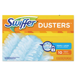 Swiffer Dust Lock Fiber Refill Dusters, Unscented, 10 Per Box, 4/Case, 40 Total