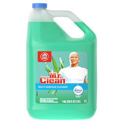 Mr. Clean Multi-Purpose Cleaning Solution, With Febreze, Meadows & Rain Scent, 1 Gallon Bottle, 4/Case