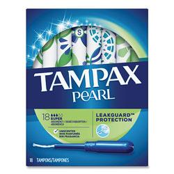 Tampax Pearl Tampons, Super, 18/Box