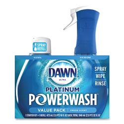 Dawn Platinum Powerwash Dish Spray, Fresh, 16 oz Spray Bottle, 2/Pack, 3 Packs/Carton