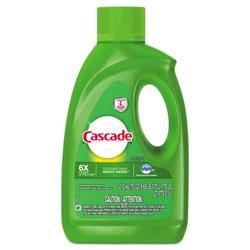 Cascade Dishwasher Gel, Fresh Scent, 75 oz. Bottle, 6/Case