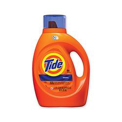 Tide HE Laundry Detergent, Original Scent, Liquid, 64 Loads, 92 oz Bottle, 4/Carton