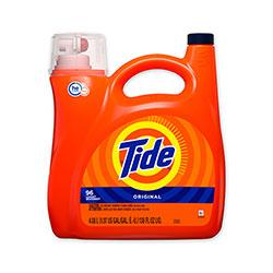 Tide HE Laundry Detergent, Original Scent, 96 Loads, 138 oz Pump Bottle, 4/Carton