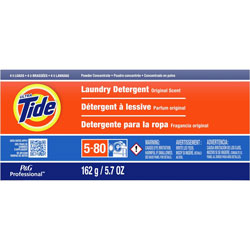 Tide Professional Powder Laundry Detergent, High Efficiency Compatible, Original Scent, 5.7 oz. Box (4 loads), 14/Case, 56 Loads Total