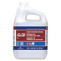 P&G Pro Line® Carpet Extraction Cleaner, Concentrate, #25, 1 Gallon Bottle, 4/Case