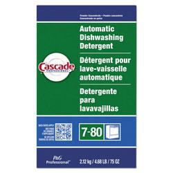 Cascade Professional Automatic Dishwasher Powder, Fresh Scent, 75 oz. Box, 7/Case