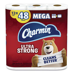 Charmin Ultra Strong Bathroom Tissue, Septic Safe, 2-Ply, White, 264 Sheet/Roll, 12/Pack, 4 Packs/Carton