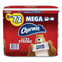Charmin Ultra Strong Bathroom Tissue, Septic Safe, 2-Ply, 4 x 3.92, White, 264 Sheet/Roll, 18/Pack