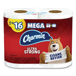Charmin Ultra Strong Bathroom Tissue, Septic Safe, 2-Ply, 4 x 3.92, White, 264 Sheet/Roll, 4/Pack