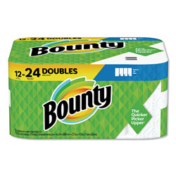 Bounty Select-a-Size Paper Towels, 2-Ply, White, 5.9 x 11, 98 Sheets/Roll, 12 Rolls/Carton