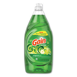 Gain Ultra Dishwashing Liquid, Original Scent, 38 oz. Bottle, 8/Case
