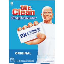 Mr. Clean Magic Eraser, 2 3/10 x 4 3/5 x 1, White, 6/Pack