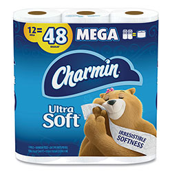 Charmin Ultra Soft Bathroom Tissue, Septic Safe, 2-Ply, White, 4 x 3.92, 264 Sheets/Roll, 12 Rolls/Pack
