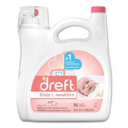 Dreft® Liquid Laundry Detergent, High Efficiency Compatible, Newborn Stage, 150 oz. Press Tap Bottle (96 loads), 4/Case, 384 Loads Total