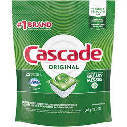 Cascade ActionPacs, Fresh Scent, 13.5 oz Bag, 25/Pack