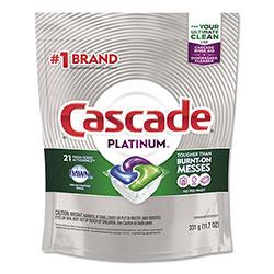 Cascade Dish Soap, Action Pacs, Platinum, Fresh Scent, 21 Per Pack
