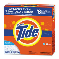Tide Powder Laundry Detergent, High Efficiency Compatible, Original Scent, 95 oz. Box (68 loads), 3/Case, 204 Loads Total