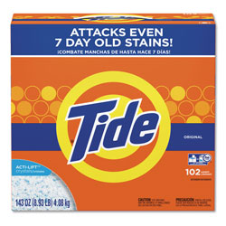Tide Powder Laundry Detergent, High Efficiency Compatible, Original Scent, 143 oz. Box (102 loads), 2/Case, 204 Loads Total