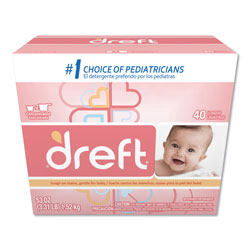 Dreft® Powder Laundry Detergen, High Efficiency Compatible, Original Scent, 53 oz. Box (40 loads), 4/Case, 160 Loads Total