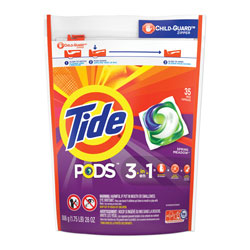 Tide PODS Laundry Detergent, High Efficiency Compatible Liquid Pacs, Spring Meadow Scent, 35 Per Pack, 4/Case, 140 Total