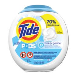 Tide PODS Laundry Detergent Liquid Pacs, High Efficiency Compatible, Free & Gentle, 72 Per Pack