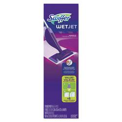 Swiffer WetJet Mopping System, 46 in Handle, Silver/Purple, 1 Per Box, 2/Case, 2 Total
