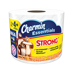 Charmin Essentials Strong Bathroom Tissue, Septic Safe, 1-Ply, White, 4 x 3.92, 451/Roll, 36 Individually Wrapped Rolls/Carton
