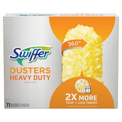 Swiffer Dusters Heavy Duty Dust Lock Fiber, 2 in X 6 in, Unscented, 11 Per Refill Pack, 3/Pack, 33 Total