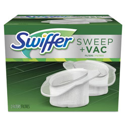 Swiffer Sweep+Vac Replacement Filter, White, 2 Per Box, 8/Case, 16 Total