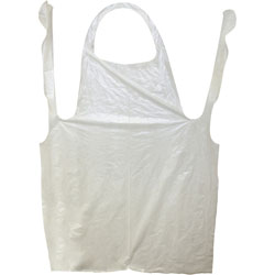 ProGuard Disposable Poly Apron, 1mil, 32 in x 50 in, 1000/CT, White