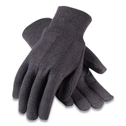 PIP Polyester/Cotton Jersey Gloves, Men's, Brown, 12 Pairs