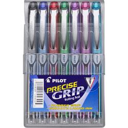 Pilot Extra-Fine Rollerball Pen, BK/RD/BE/GN/PE/PK/TQ