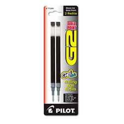 Pilot Refill for Pilot G2 Gel Ink Pens, Bold Point, Black Ink, 2/Pack
