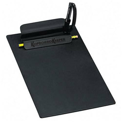 Iconex Antimicrobial Klipboard Keeper® with Pencil & Coil Pen, Letter Size, Black
