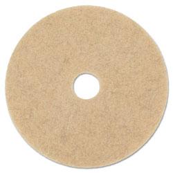 Boardwalk Natural Hog Hair Burnishing Floor Pads, 20 in Diameter, 5/Carton