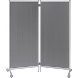 Paperflow USA Mobile Partition, 30 inWx11-4/5 inLx67 inH, TLT Smoke