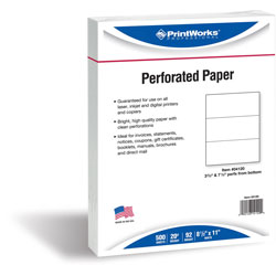 Paris Business Forms Perforated Copy Paper, 8 1/2 inx11 in, White, 20 LB, One Ream