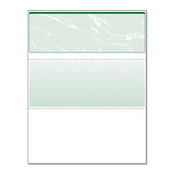 Paris Business Forms Standard Security Check, 11 Features, 8.5 x 11, Green Marble Top, 500/Ream