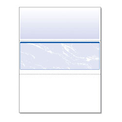 Paris Business Forms Standard Security Check, 11 Features, 8.5 x 11, Blue Marble Middle, 500/Ream