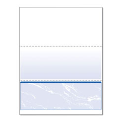 Paris Business Forms Standard Security Check, 11 Features, 8.5 x 11, Blue Marble Bottom, 500/Ream