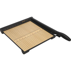 "Martin Yale 15 Sheet Trimmer, 12x14 1/4 Wood Base, Steel Blade, 12"" Cut"