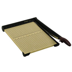 """Martin Yale 15 Sheet Trimmer, 12x17 1/2 Wood Base, Stainless Steel Blade, 15"""" Cut"""