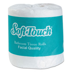Creative Converting Soft Touch Bath Tissue, Septic Safe, 2-Ply, White, Individually Wrapped, 500 Sheets/Roll, 96/Carton
