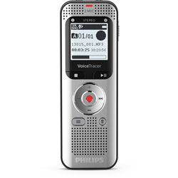 Philips Voice Tracer Audio Recorder - 8 GBSD, microSD Supported - 1.3 in LCD - MP3, WAV - Headphone - 2370 HourspeaceRecording Time - Portable