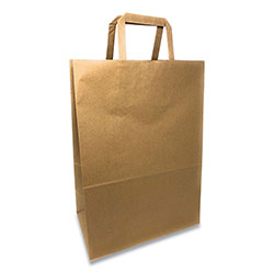 Prime Time Packaging Kraft Paper Bags, 1/6th BBL 12 x 7 x 17, Natural, 300/Bundle