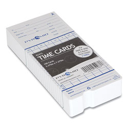 Pyramid Time Cards for 2000 and 6000 Series Time Clocks, Monthly, Two Sided, 3.38 x 7.44, 100/Pack