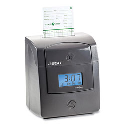 Pyramid 2650 Pro Auto Aligning Time Clock, Charcoal