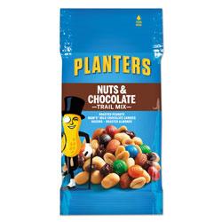 Planters® Trail Mix, Nut and Chocolate, 2 oz Bag, 72/Carton