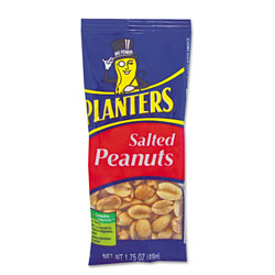 Kraft Foods Salted Peanuts, 1.75 oz, 12/Box