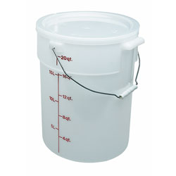 Cambro Pail With Bail 22 Quart White